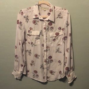 Long sleeve pink blouse